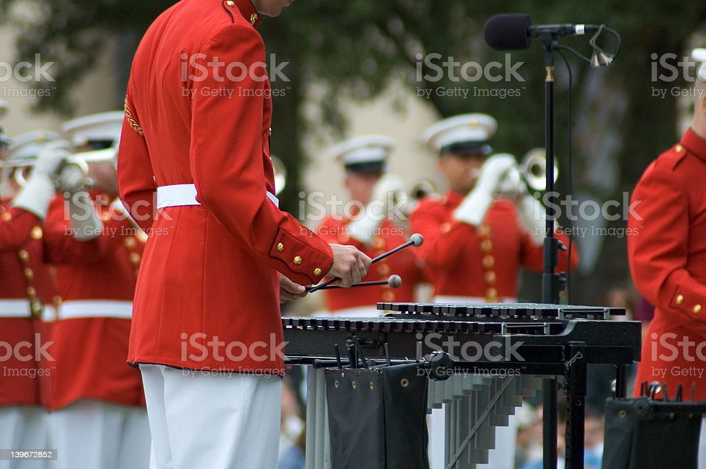 Mallet Player royalty-free stock photo