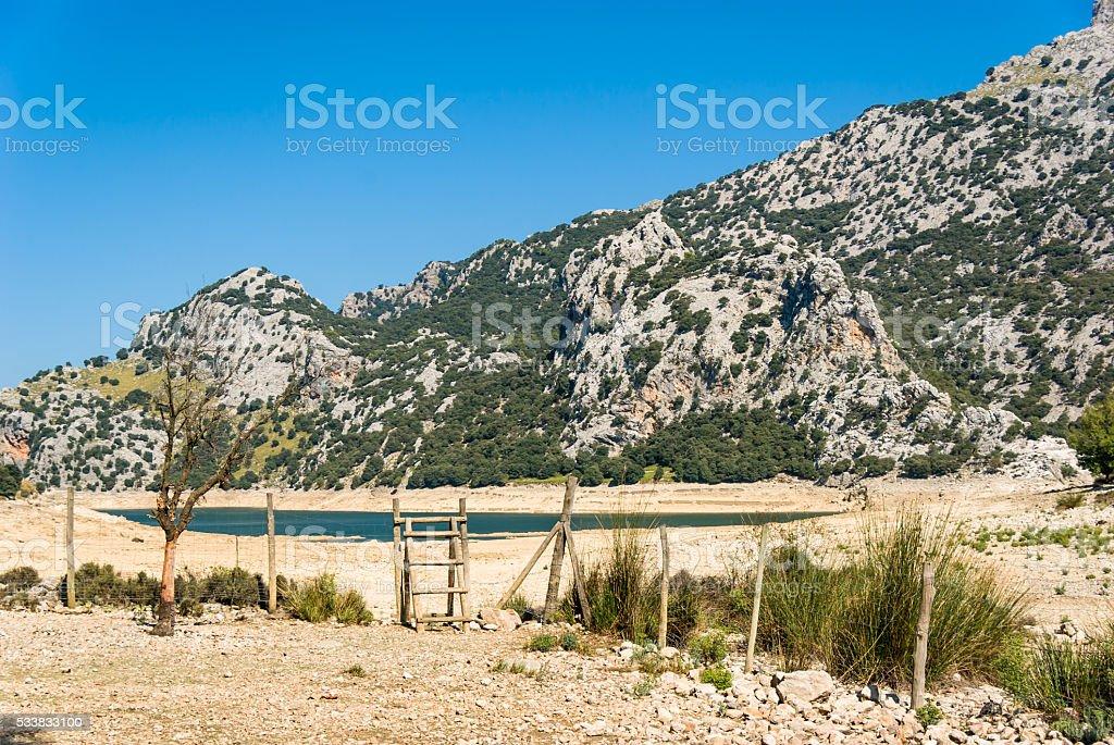 Mallorca, Balearic Islands: the Gorg Blau reservoir stock photo