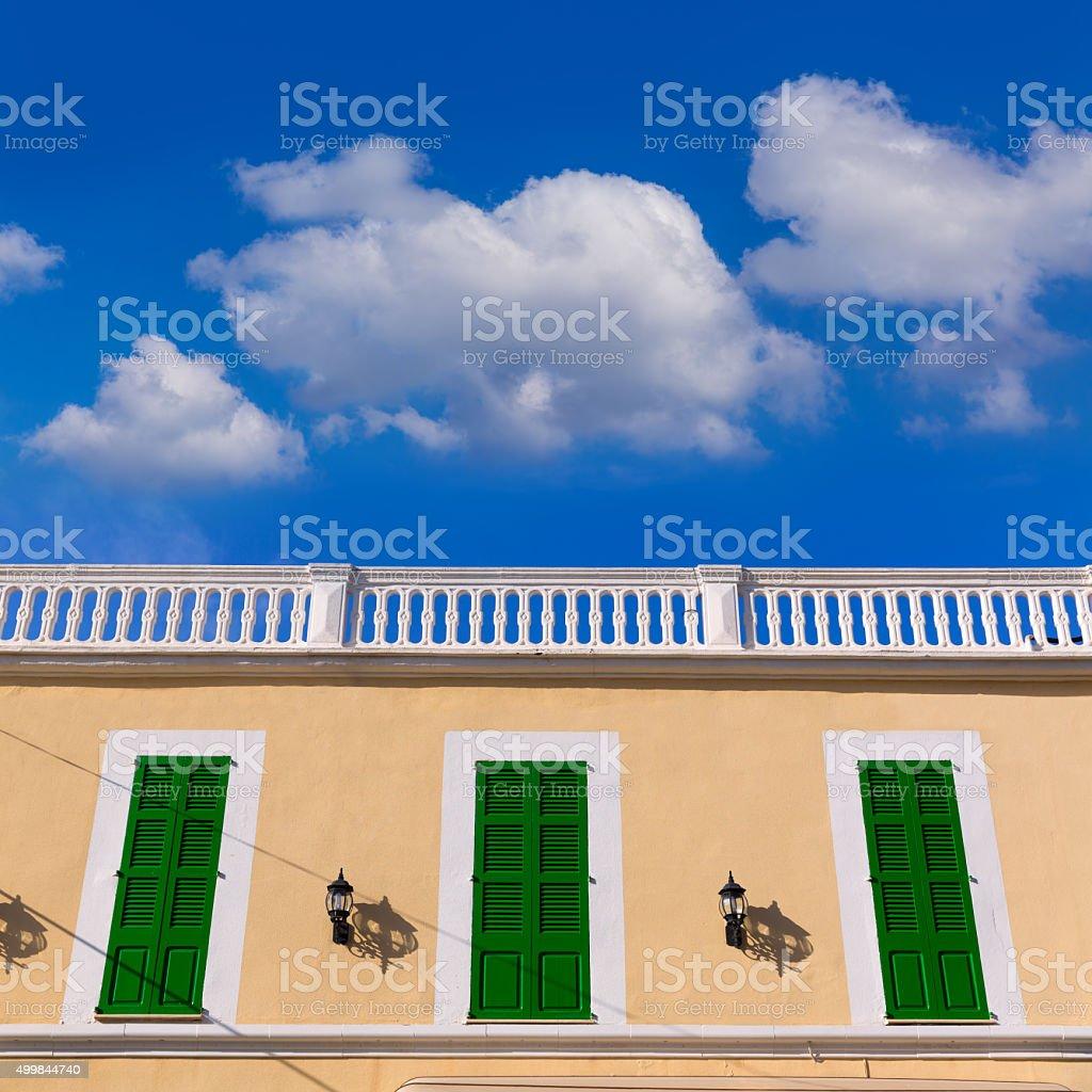 Mallorca Colonia Sant Jordi Balearic facade stock photo