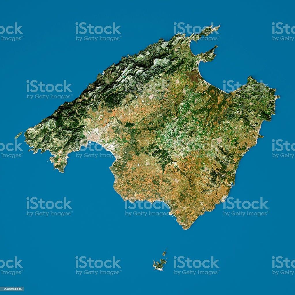 Insel Mallorca 3dmodell Topographische Karte Naturliche Farbe