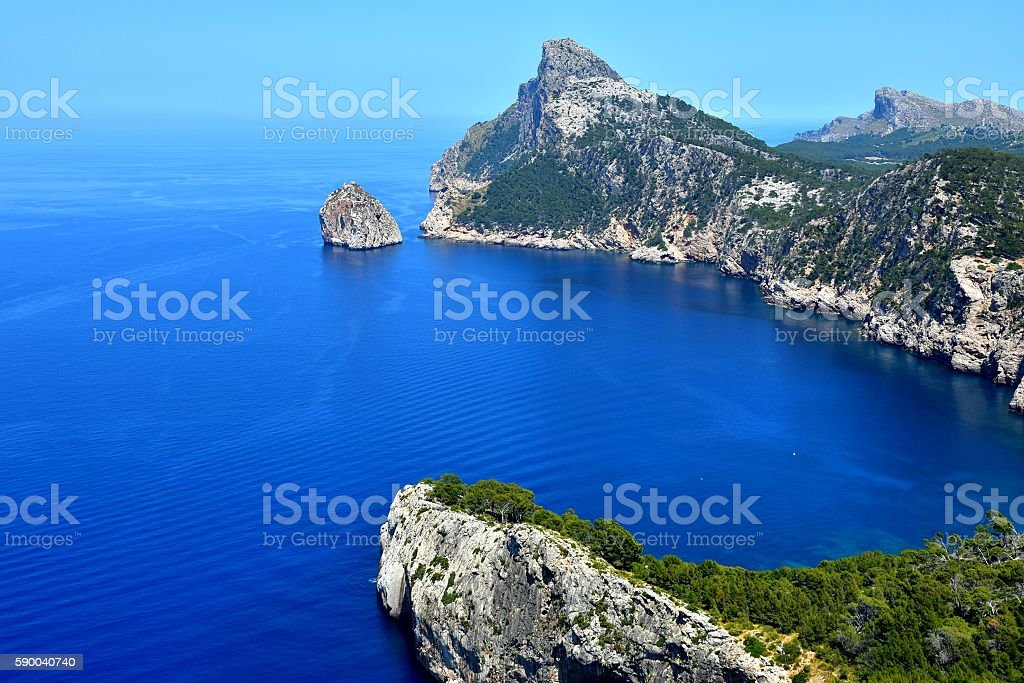 Mallorca Landscape And View To Cape Formentor stock photo