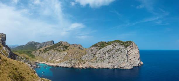Mallorca rocky coast stock photo
