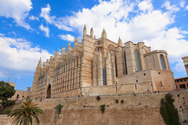 Mallorca, Spain. Cathedral of Santa Maria of Palma. stock photo