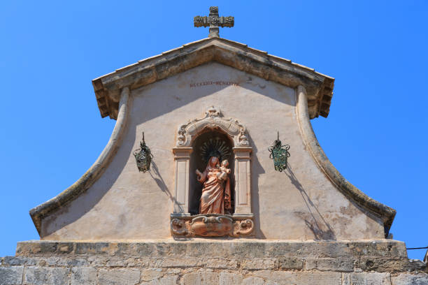 Mallorca, Spain. Esporles. Esglesia de Sant Pere, Church of St. Peter. stock photo