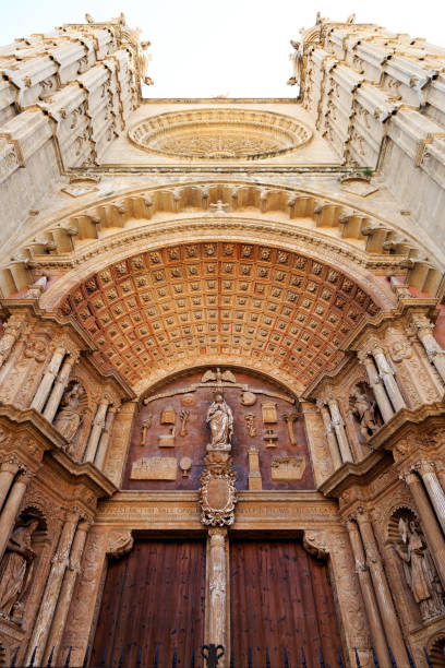 Mallorca, Spain. Palma.  The Cathedral of Santa Maria of Palma, La Seu. stock photo