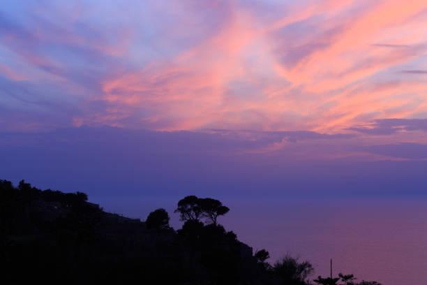Mallorca, Spain. Sunset. stock photo
