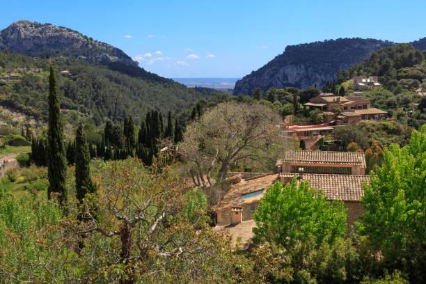 Mallorca, Spain, Valldemossa. The Royal Carthusian Monastery. stock photo