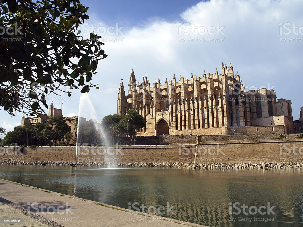 Mallorca's Cathedral royalty-free stock photo