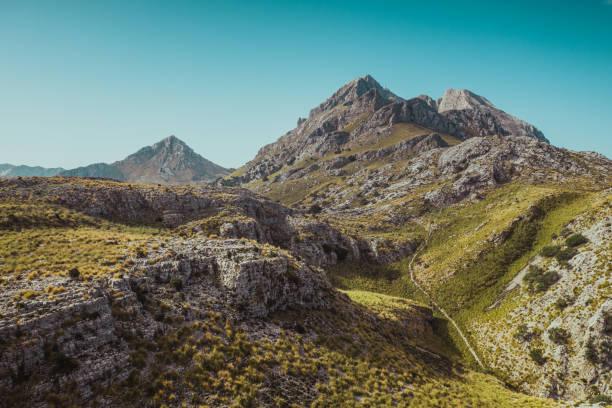 Mallorca's mountain landscape. Balearic Islands, Spain. stock photo