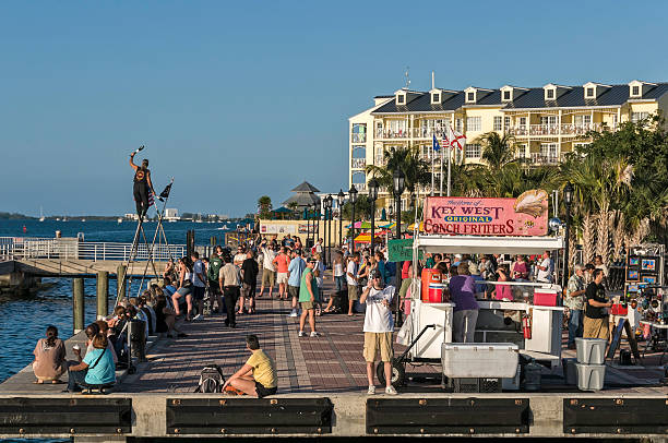 Mallory Square in Key West Florida stock photo