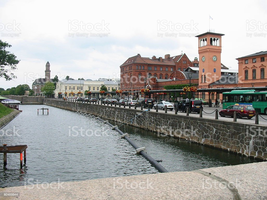 Malmö Central Station stock photo