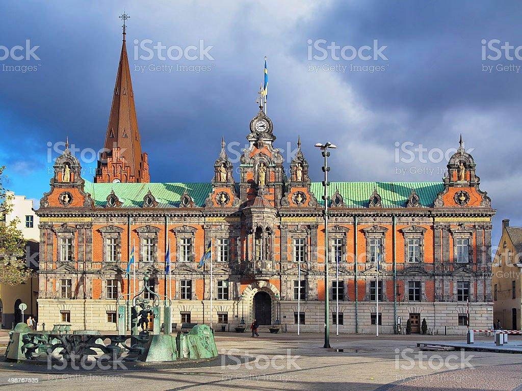 Malmo City Hall, Sweden stock photo