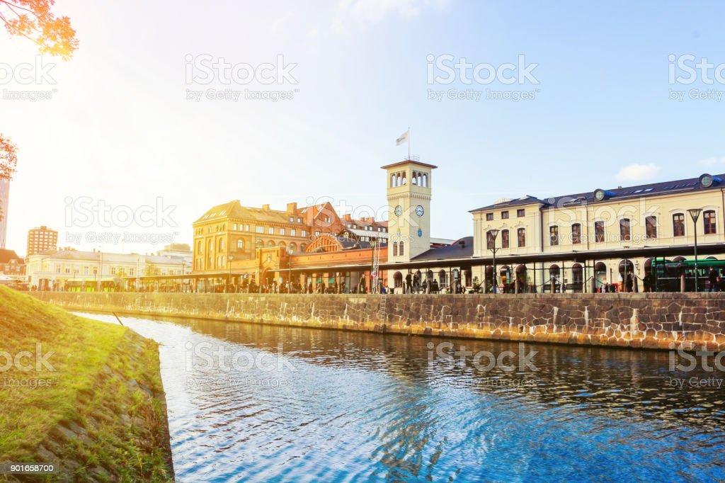 Malmo city urban landscape, Sweden stock photo