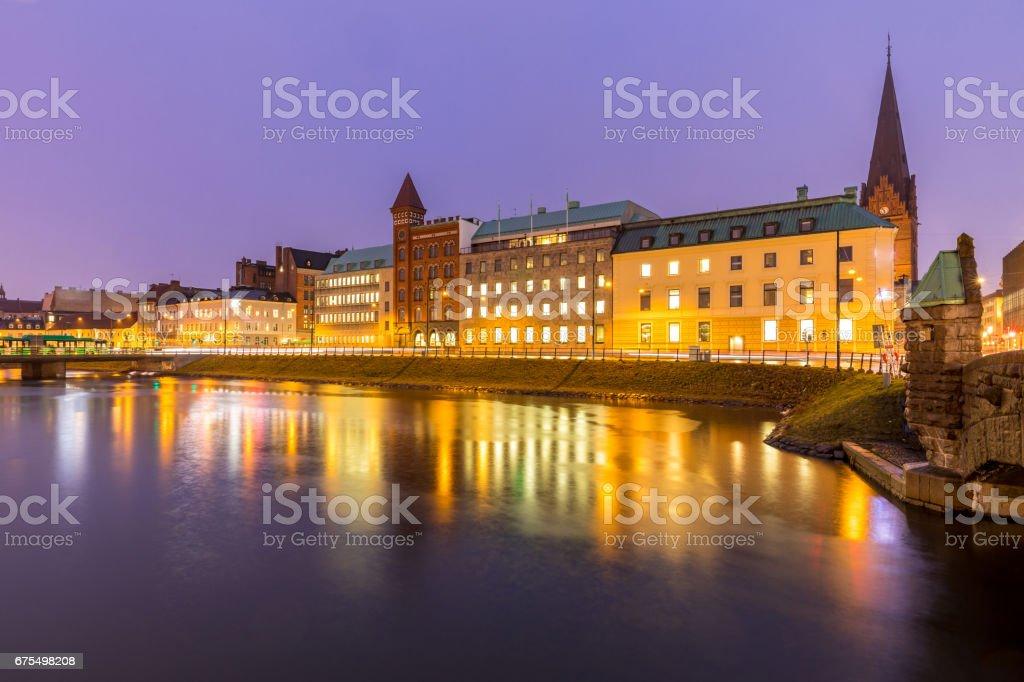 Malmo Cityscape İsveç royalty-free stock photo