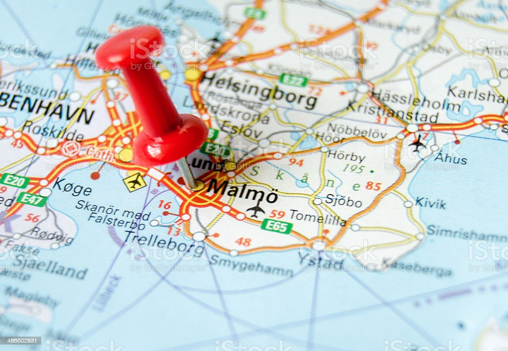 Royalty Free Malmo Map Cartography Sweden Pictures Images and Stock