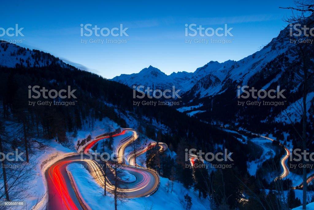 Maloja Pass stock photo