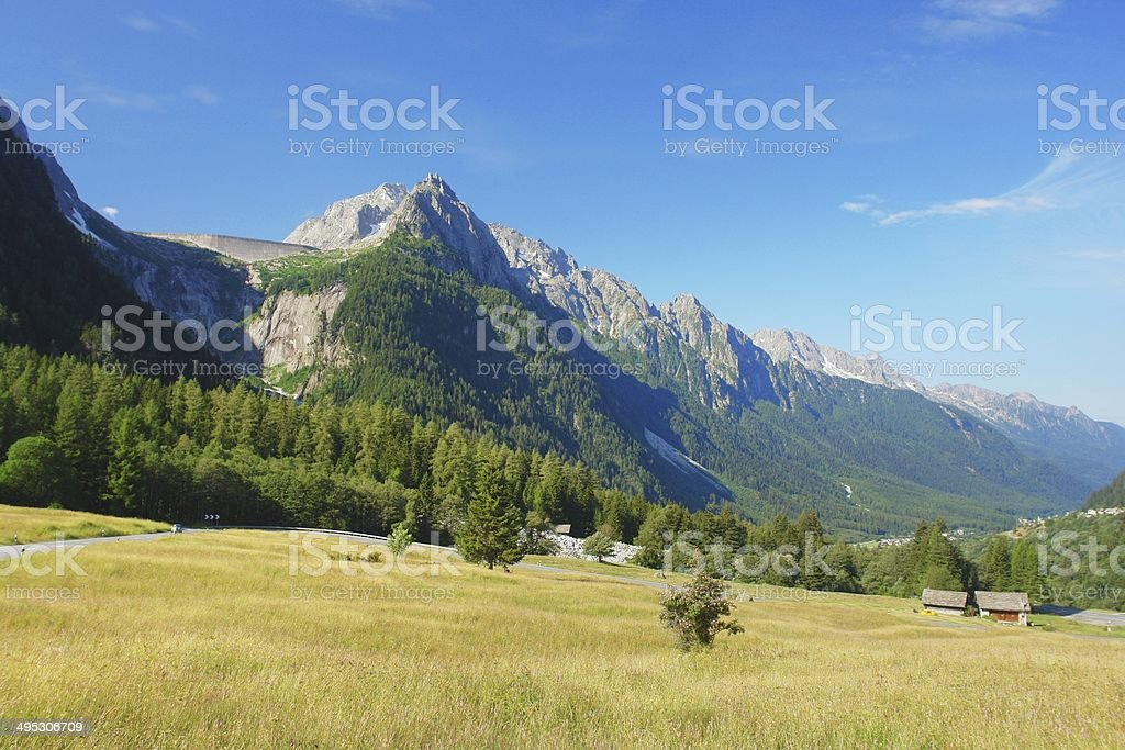 Maloja, Swiss Alps royalty-free stock photo