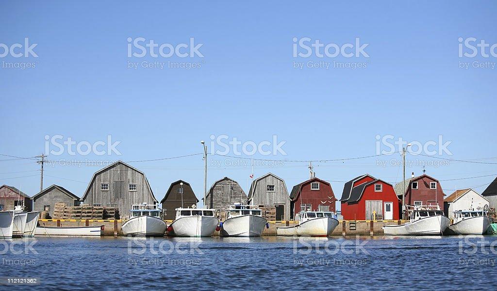 Malpaque Wharf stock photo