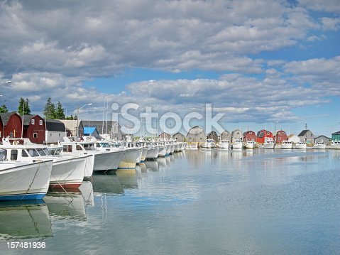 A Sunday afternoon in late Spring and the fishing fleet is moored at Malpeque Harbour in Canada's Prince Edward Island.