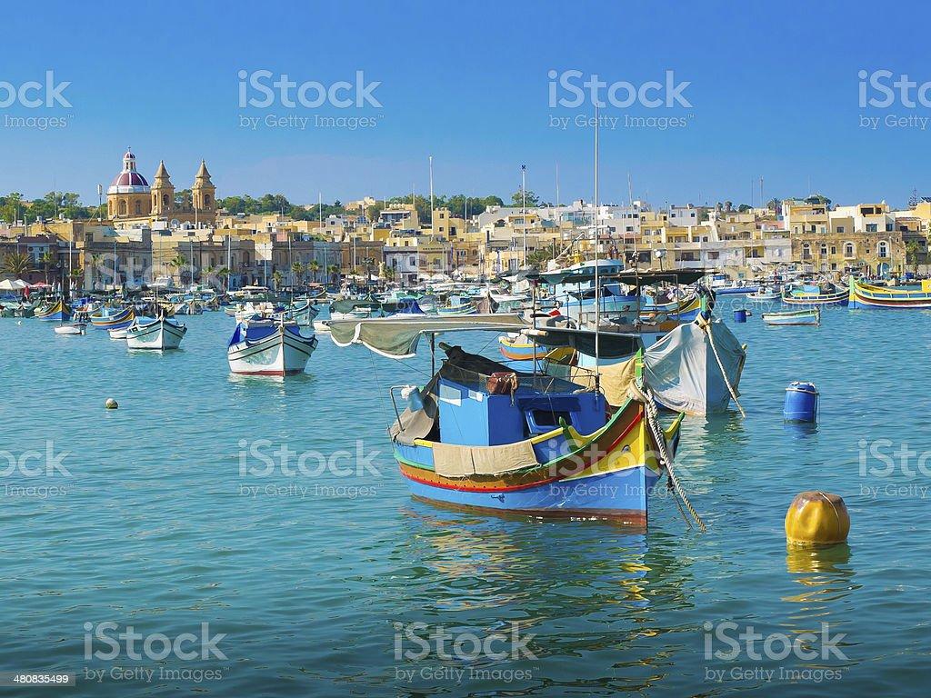 malta boats stock photo