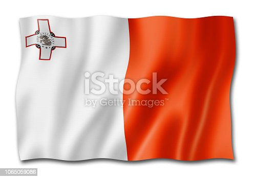 istock Malta flag isolated on white 1065059086