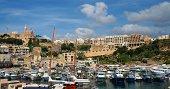 Mgarr townscape and port; Gozo island, Malta.