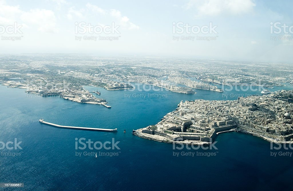 Malta, Grand Harbour stock photo