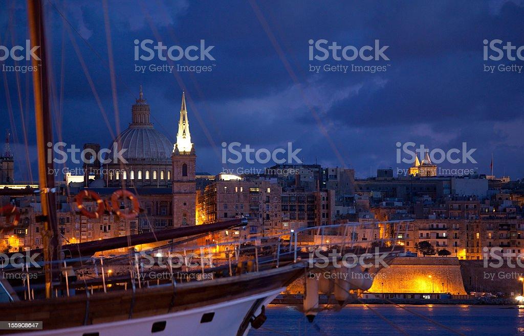Malta Harbor Valetta royalty-free stock photo