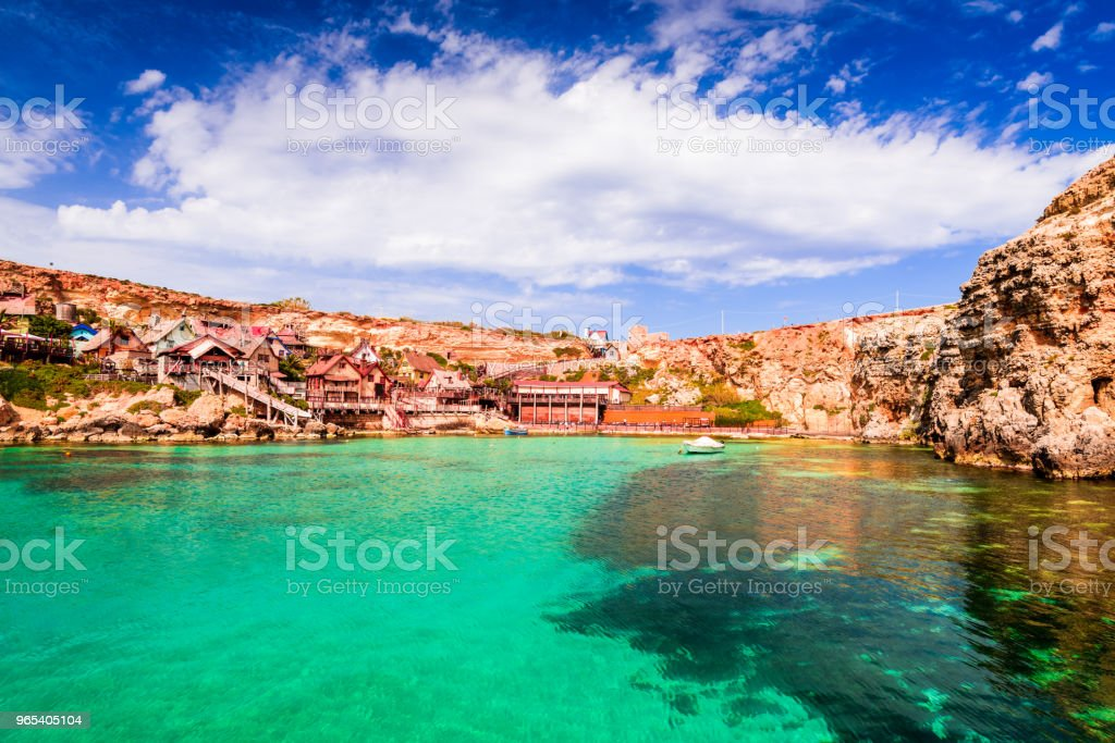 Malta, Il-Mellieha - Popeye village royalty-free stock photo