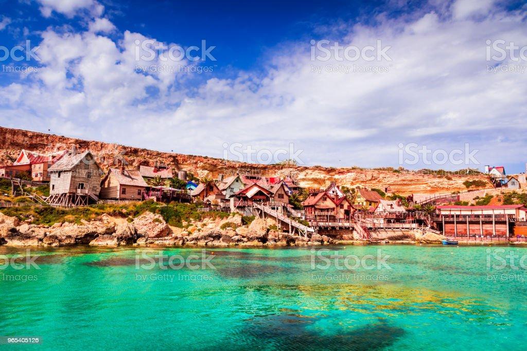 Malta, Il-Mellieha - Popeye village royalty-free stock photo
