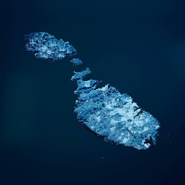 Malta Island 3D Render Blue Top Ansicht Jan 2019 – Foto