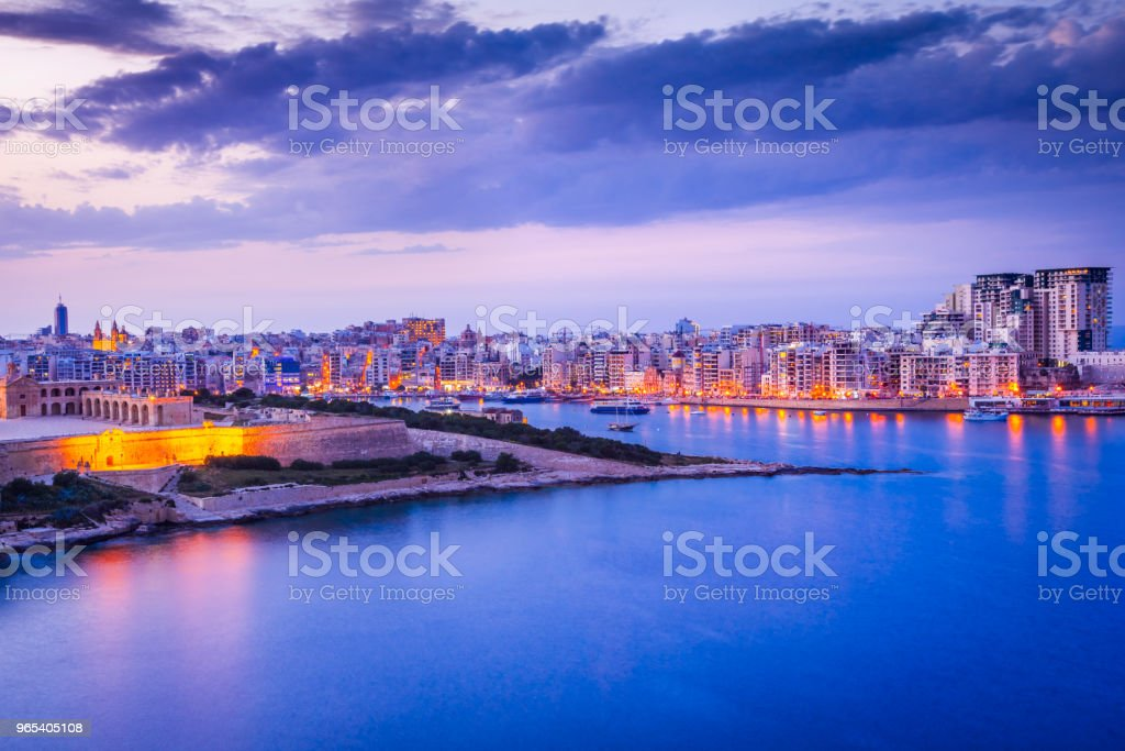 Malta, La Valletta and Silema royalty-free stock photo