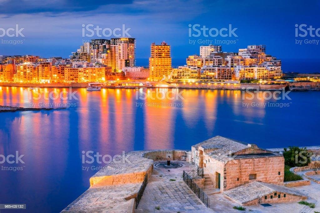 Malta, La Valletta and Silema zbiór zdjęć royalty-free