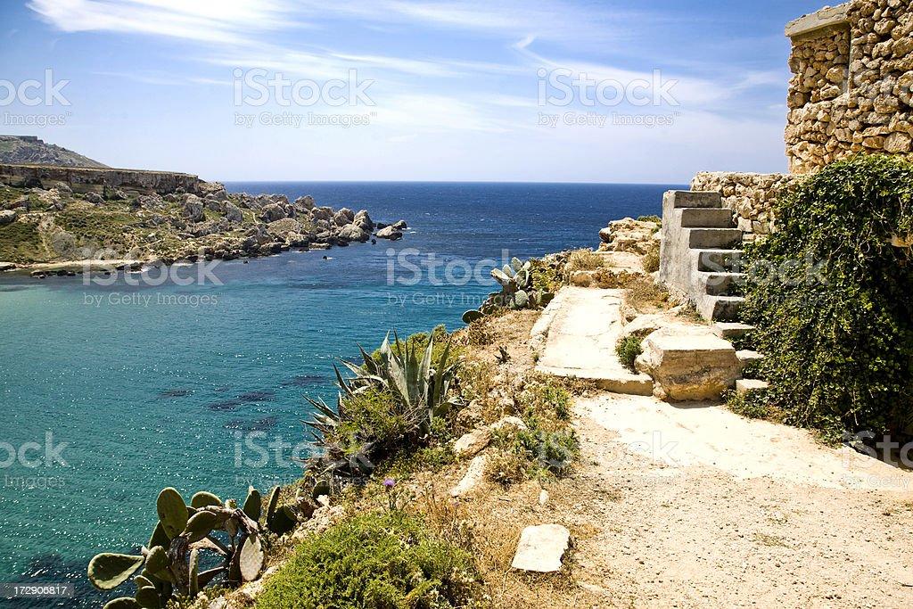 Malta landscape stock photo