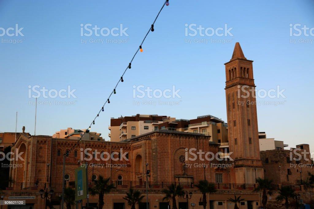 Malta Marsascala Old buildings stock photo