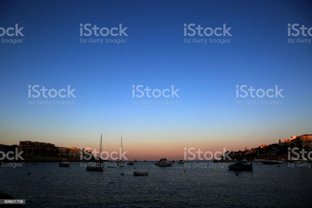 Malta Marsascala panorama stock photo