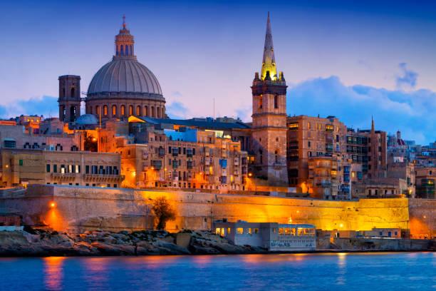 몰타 - 지중해 여행목적지, 발레타 와 세인트 폴 대성당 - 몰타 뉴스 사진 이미지