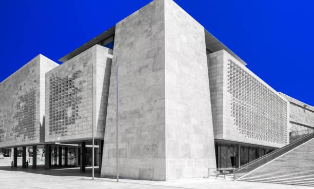 Malta parliament building in Valletta stock photo