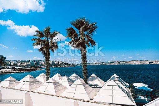 Malta Pyramids On The Coast Of The Sea