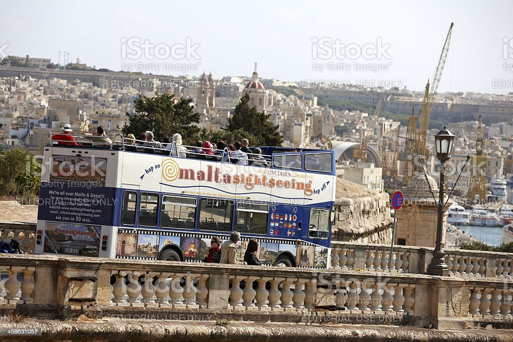 Malta tourist bus stock photo