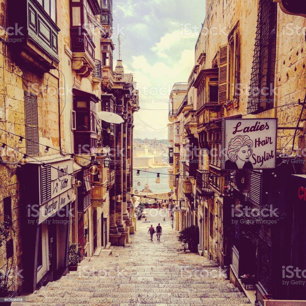 Maltas schöne Valletta Straßen – Foto