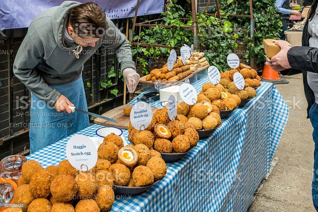 Maltby Street Market in Bermondsey stock photo
