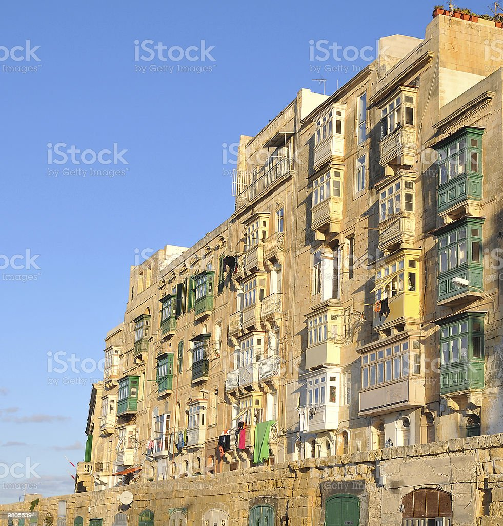 Maltese apartments royalty-free stock photo