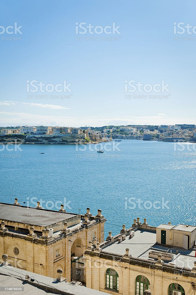 Maltese Bay View royalty-free stock photo