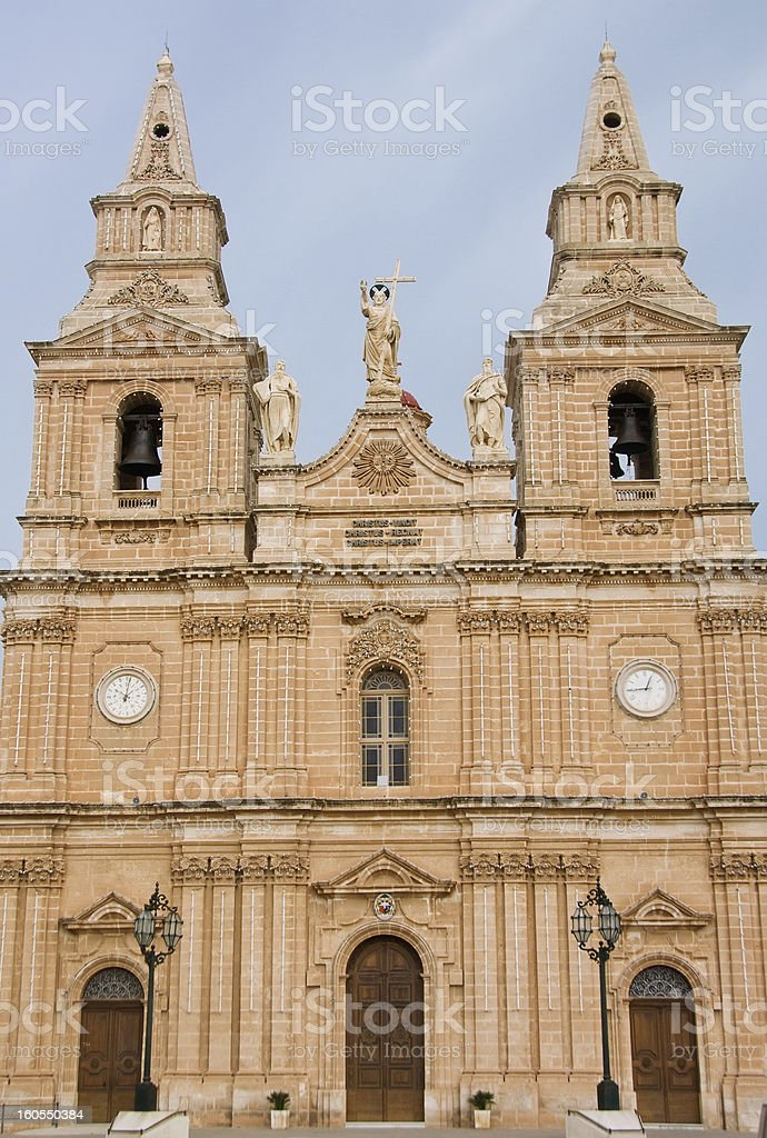 Maltese Church royalty-free stock photo