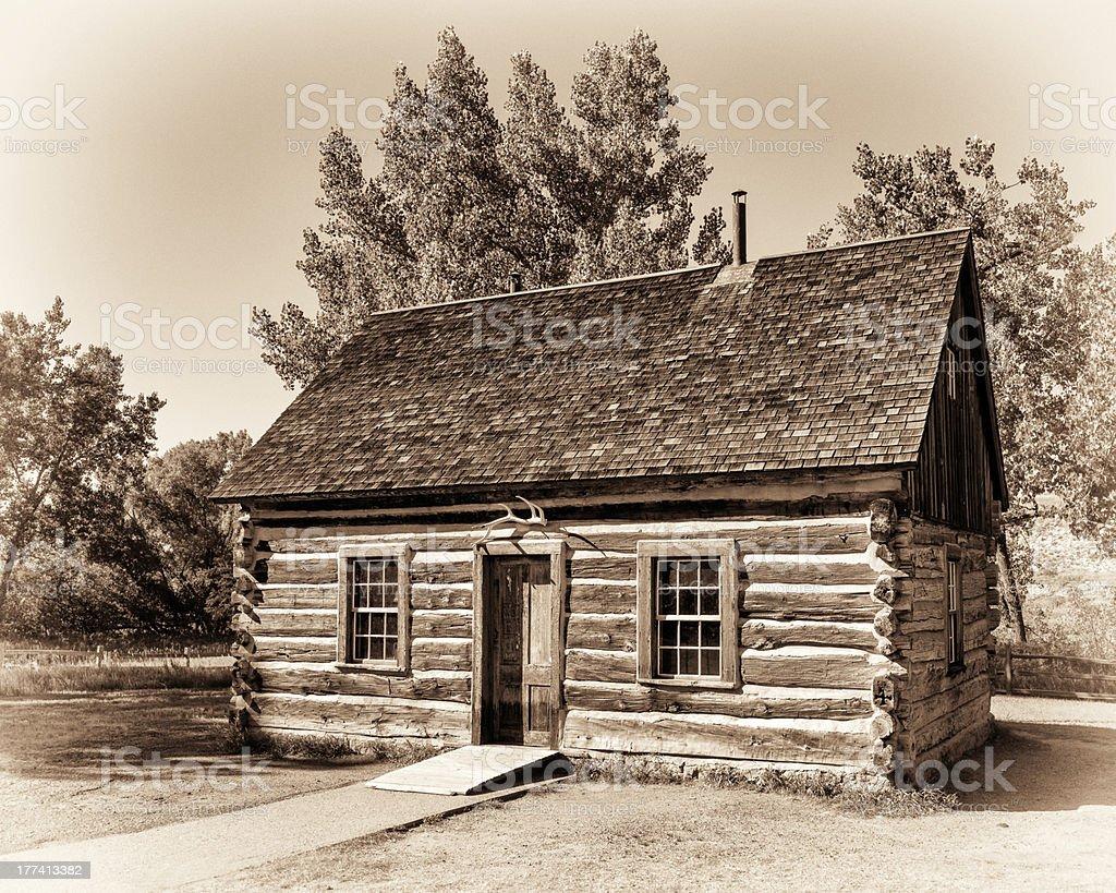 Maltese cross cabin stock photo