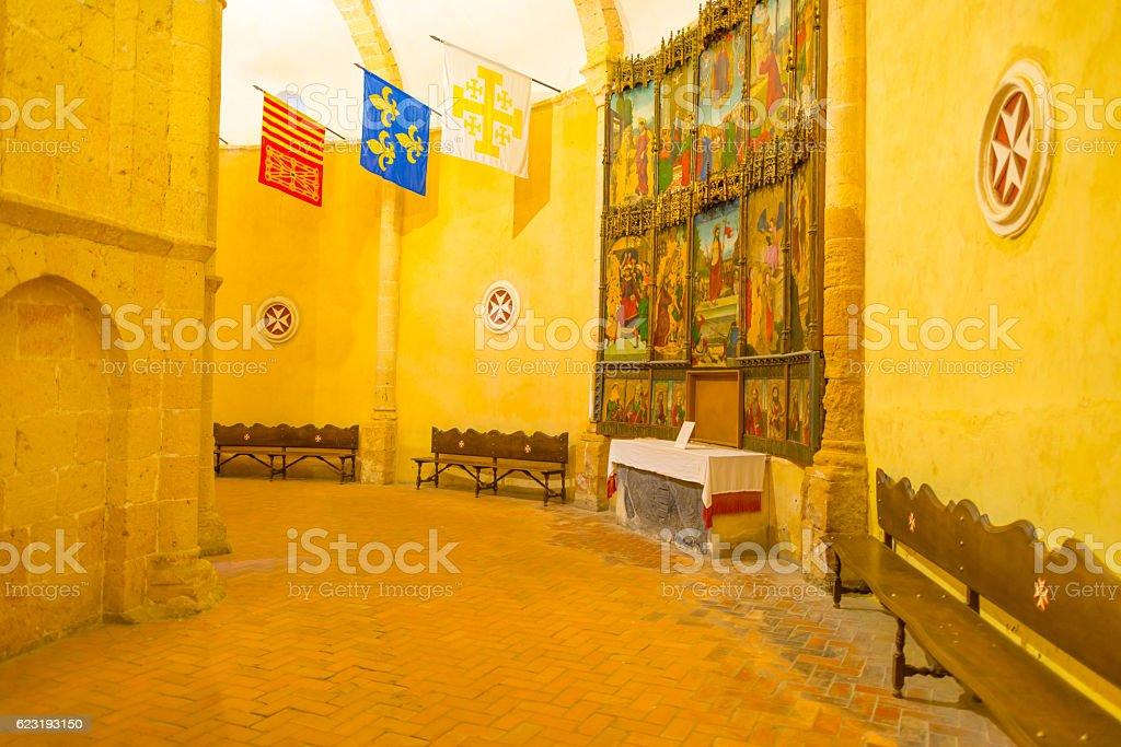 Maltese Cross church in Segovia stock photo