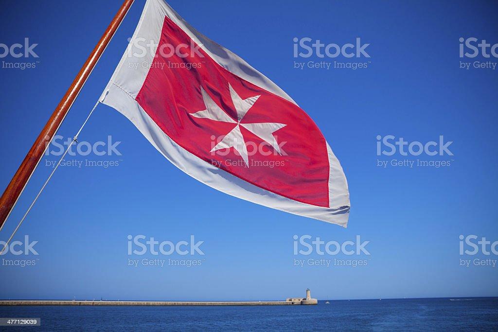 Maltese cross stock photo