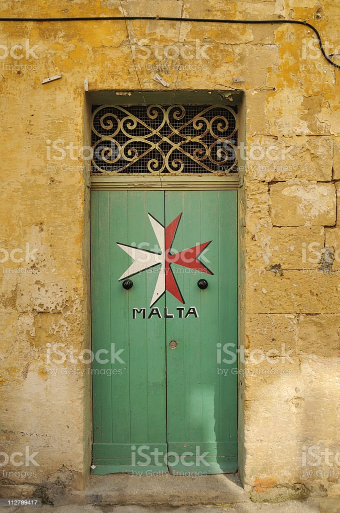 Maltese door stock photo