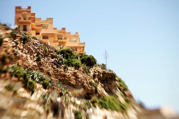 Maltese housings on a Hill stock photo